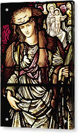 The Tibertine Sibyl In Stained Glass Acrylic Print