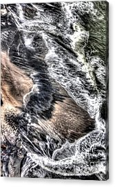 The Tide From Above Acrylic Print by Bob Hislop