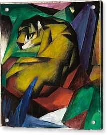 The Tiger Acrylic Print by Franz Marc