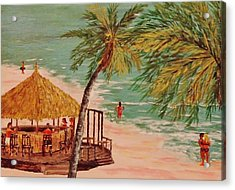 The Tiki Bar Is Open Acrylic Print