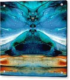 The Time Traveler - Surreal Fantasy Art By Sharon Cummings Acrylic Print by Sharon Cummings