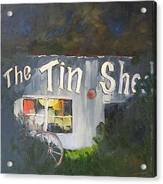 The Tin Shed Acrylic Print by Susan Richardson