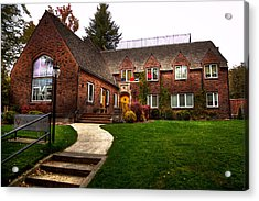 The Tke House On The Wsu Campus Acrylic Print by David Patterson