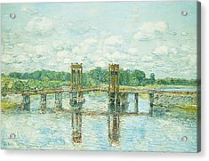 The Toll Bridge New Hampshire Acrylic Print by Childe Hassam
