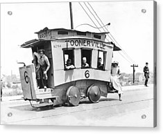 The Toonerville Trolley Acrylic Print by Underwood Archives