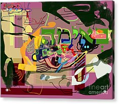 the Torah is aquired with awe 3 Acrylic Print by David Baruch Wolk