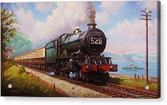 The Torbay Express. Acrylic Print by Mike  Jeffries