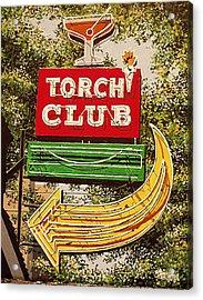 The Torch Club Acrylic Print by Paul Guyer