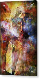 Acrylic Print featuring the mixed media The Touch by Ally  White
