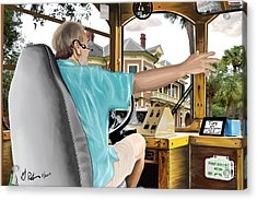 The Tour Guide Acrylic Print by Gerry Robins
