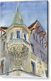 The Tower At Conditorei Central Acrylic Print by David Gilmore