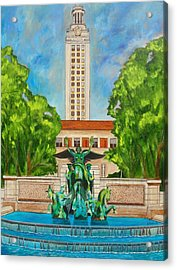 The Tower - Austin Texas Acrylic Print by Manny Chapa