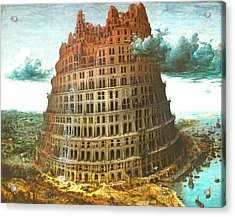 The Tower Of Babel Acrylic Print by Miguel Rodriguez