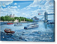 The Tower Of London Acrylic Print by Steve Crisp