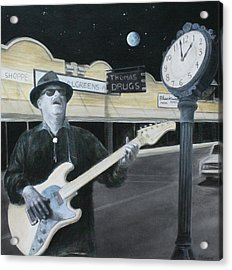 The Town Crier Acrylic Print by Patricia Ann Dees