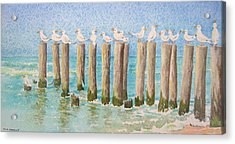 The Town Meeting Acrylic Print by Mary Ellen Mueller Legault