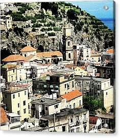 The Town Of Minori Acrylic Print by H Hoffman