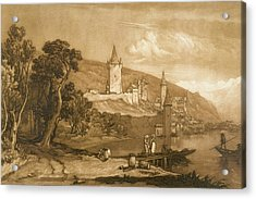 The Town Of Thun Acrylic Print by Joseph Mallord William Turner
