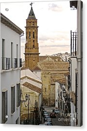 Acrylic Print featuring the photograph The Town Tower by Suzanne Oesterling