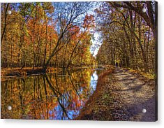 The Towpath Acrylic Print by Kathi Isserman