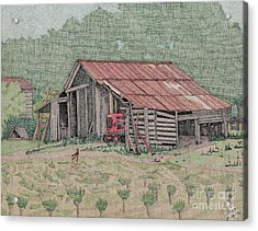 The Tractor Barn Acrylic Print by Calvert Koerber