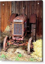 The Tractor Acrylic Print by John Freidenberg