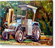 The Tractor Acrylic Print by Mark Hartung