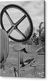 The Tractor Seat Acrylic Print by Heather Allen