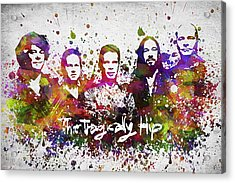 The Tragically Hip In Color Acrylic Print by Aged Pixel