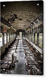 The Train Car Acrylic Print by Jessica Berlin