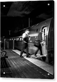 The Train Conductor Acrylic Print by Bob Orsillo
