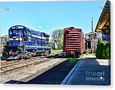 The Train Depot Acrylic Print by Paul Ward