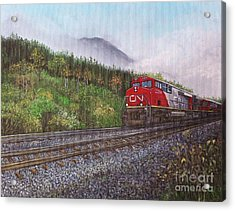 The Train West Acrylic Print