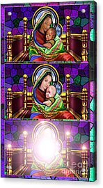 The Transfiguration Of Madonna And Child  Acrylic Print by Reggie Duffie