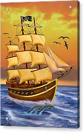 The Treasure Hunter Acrylic Print