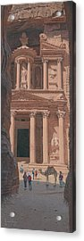 The Treasury Petra Jordan Acrylic Print by Richard Harpum