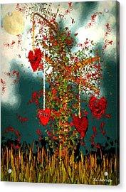 The Tree Of Hearts Acrylic Print