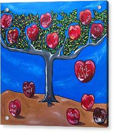 The Tree Of Life Acrylic Print by Sandra Marie Adams