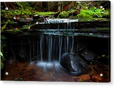 Acrylic Print featuring the digital art The Trickling Brook by Timothy Hack