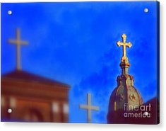 Acrylic Print featuring the photograph The Trinity New Orleans Irish Channel by Michael Hoard