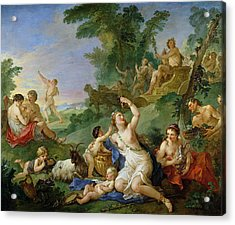 The Triumph Of Bacchus Oil On Canvas Acrylic Print