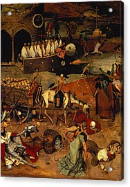 The Triumph Of Death Acrylic Print by Pieter the Elder Bruegel
