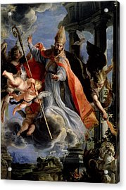 The Triumph Of St. Augustine 354-430 1664 Oil On Canvas Acrylic Print by Claudio Coello