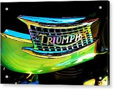 The Triumph Petrol Tank Acrylic Print
