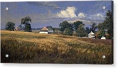 The Trostle Farm Gettysburg Acrylic Print by David Henderson