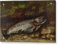 The Trout, 1873  Acrylic Print by Gustave Courbet