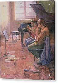 The Trumpet Lesson, 1998 Oil On Canvas Acrylic Print