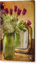 The Tulips Stand Arrayed - A Still Life Acrylic Print by Terry Rowe