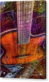 The Tuning Of Color Digital Guitar Art By Steven Langston Acrylic Print by Steven Lebron Langston