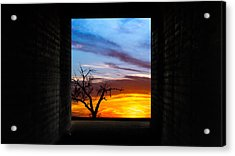 The Tunnel   Sunset1 Acrylic Print